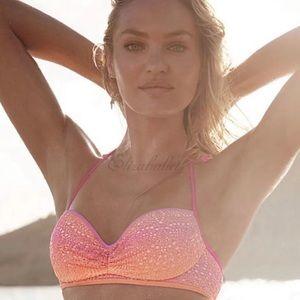 🧡Victoria's Secret Lace Strappy Halter Bikini 36E